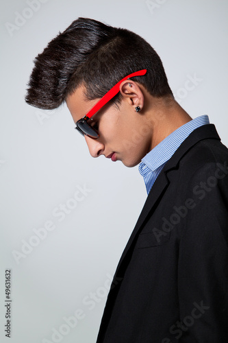 Trendy Teenager with Hair Crest