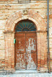 Italy, Santarcangelo old house door