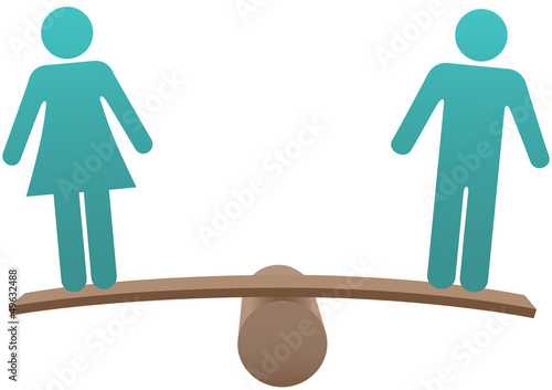 Equal male female sex equality balance