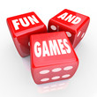 Fun and Games - Words on Three Red Dice