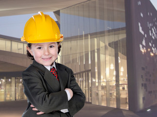 Adorable young architect