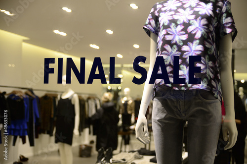 Final Sale sign concept of discount shopping