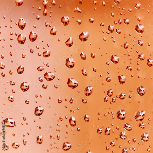 Water droplets background - texture close -up