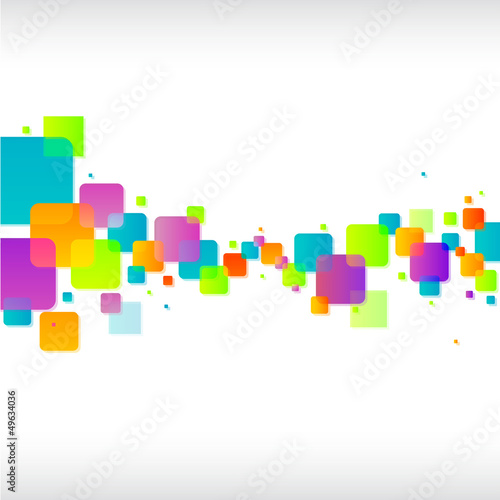 Abstract colorful funky square background