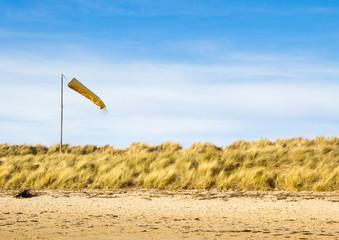 Windsock on beach