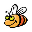 Funny cartoon bee.