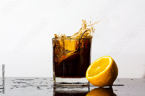 Splashing cola
