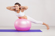 Woman on a fitness ball