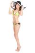 Young woman in a bikini