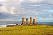 Moais in Tahai , Easter island (Chile)