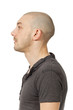 profile man on white background