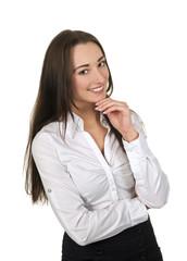 lachende Geschäftsfrau