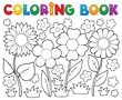 Detaily fotografie Coloring book with flower theme 2