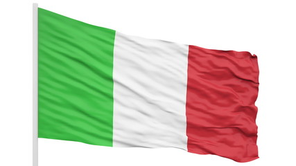 Looping of the Italy flag. Alpha mask included