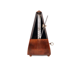 Vintage wooden metronome