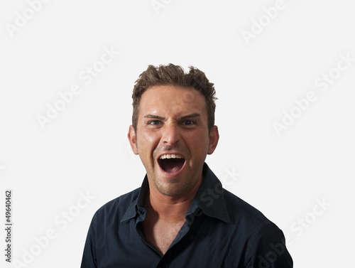 Businessman with angry expression