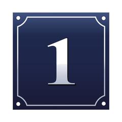 Emaille Hausnummernschild 1