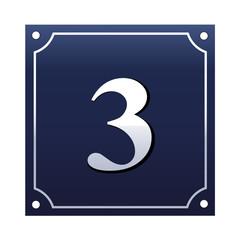Emaille Hausnummernschild 3