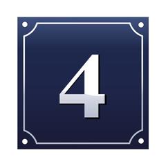Emaille Hausnummernschild 4