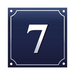 Emaille Hausnummernschild 7