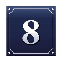 Emaille Hausnummernschild 8