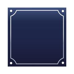 Emaille Hausnummernschild blanko