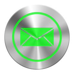 Edelstahl  Mail Button Grün