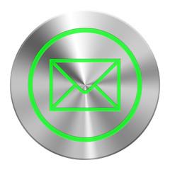 Edelstahl  E-Mail Button Grün