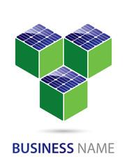 Solar Panel Logo Three Cubes