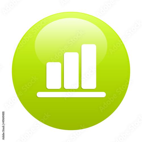 Bouton Internet graphic histogramme green