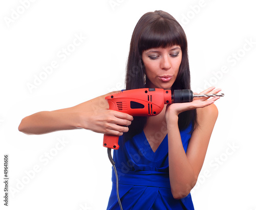 Girl with red drill
