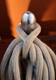 Ropes on belaying pin