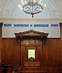 British crown court room