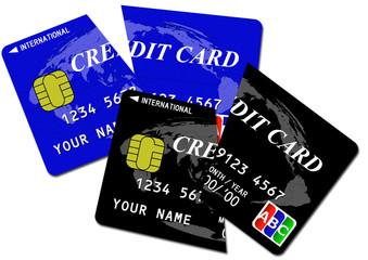 切断されたクレジットカード