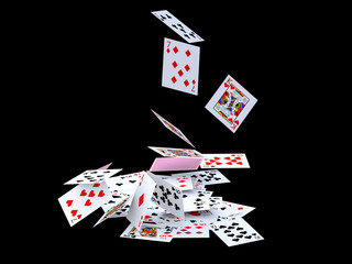Fall of cards