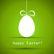green ester card with egg