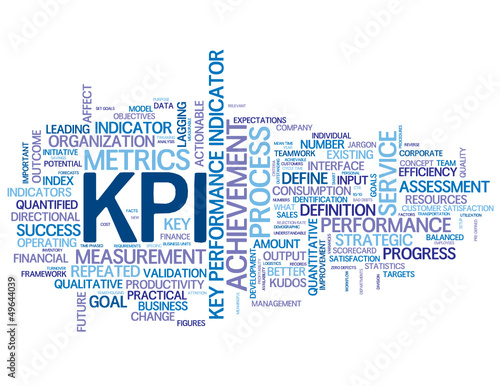 """KPI"" Tag Cloud (objectives targets key performance indicator)"