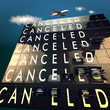 Canceled on a mechanical timetable on sky and a plane