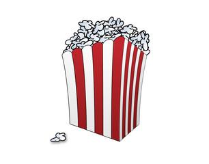 Eine Tüte voll popcorn