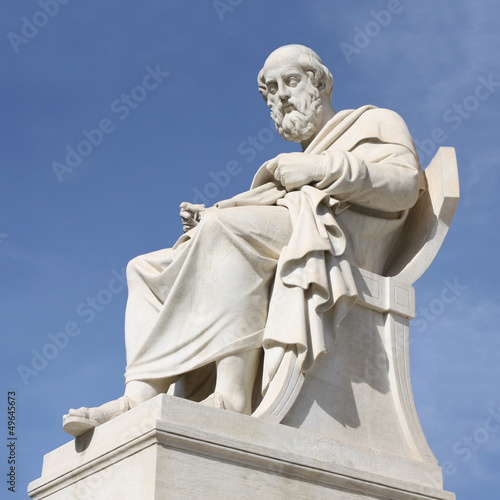 Ancient philosopher Plato in Athens, Greece