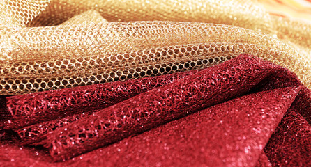 Golden and red fabric