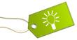 Schild grün Lampe