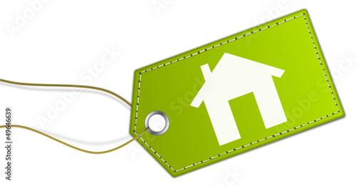 Grünes Schild Haus