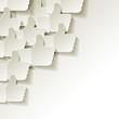 Like papier Weiss Icon Ecke