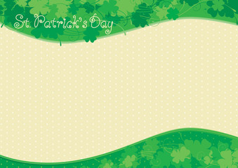 Vector floral Background  for St. Patrick's Day