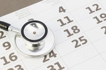 Arzttermin - Konzept mit Stethoskop