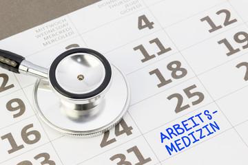 Fachgebiet Arbeitsmedizin im Kalender