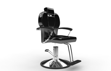 Black Shiny Hair Stylist Armchair