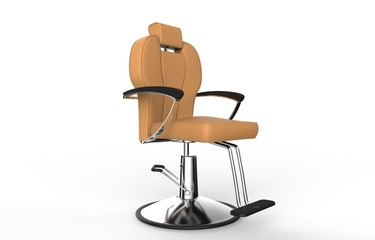 Orange - Brown Hair Salon Chair