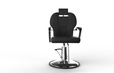 Black Hairstylist Chair Front View